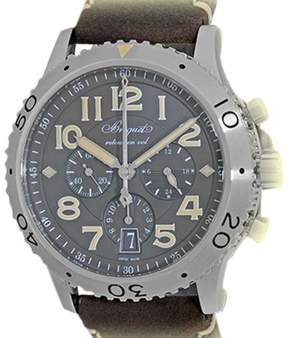 Breguet Type XXI 3817ST X2 3ZU Stainless Steel & Leather Automatic 42mm Mens Watch