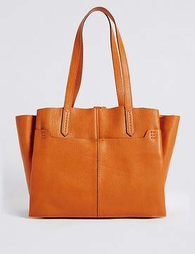 Marks and Spencer Leather 3 Part Compartment Tote Bag