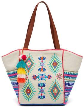 Steve Madden Emery Embroidered Tote