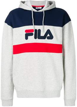 Fila colour block hooded sweatshirt