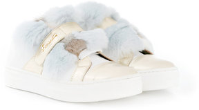Simonetta fur detail sneakers
