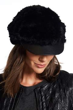 Surell Genuine Rabbit Fur Cabbie Hat