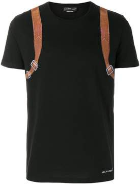 Alexander McQueen Backpack print T-shirt