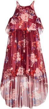 Bonnie Jean Big Girls Floral-Print Halter Maxi Dress