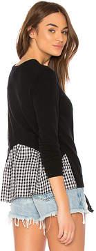 Autumn Cashmere Gingham Ruffle Back Sweater