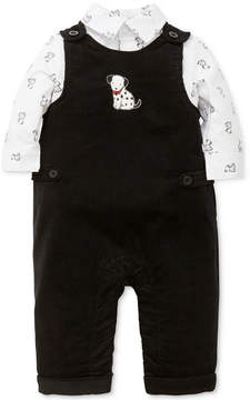 Little Me 2-Pc. Dalmatian-Print Shirt & Overalls Set, Baby Boys (0-24 months)