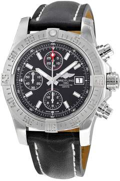 Breitling Avenger II Automatic Black Dial Black Leather Men's Watch A1338111-BC32BKLD