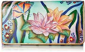 Anuschka Women's Hand Painted Accordion Flap Wallet | Genuine Leather |
