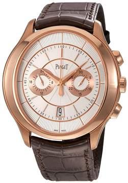Piaget Gouverneur Automatic Silver Dial Brown Leather Men's Watch