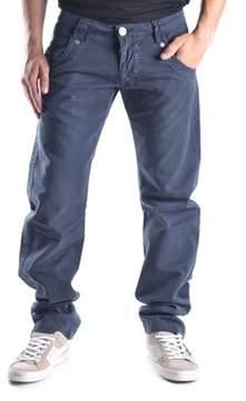 Gazzarrini Men's Blue Cotton Pants.