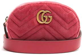 Gucci GG Marmont quilted-velvet belt bag - LIGHT PINK - STYLE