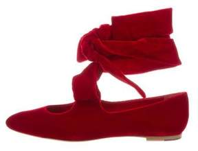 The Row Elodie Velvet Flats w/ Tags