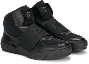 Versace hi-top slip-on sneakers