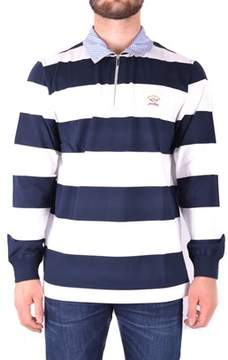 Paul & Shark Men's Light Blue/white Cotton Polo Shirt.