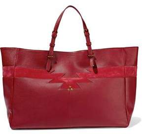 Jerome Dreyfuss Suede-Paneled Leather Tote
