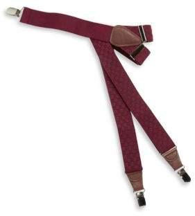 Black & Brown Black Brown Checkered Suspenders