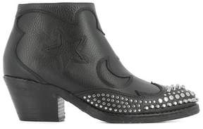 McQ Women's Black Leather Ankle Boots.