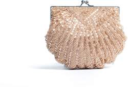 La Regale Classic Beaded Shell Clutch.