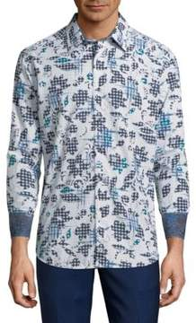 Robert Graham Claude Cotton Casual Button-Down Shirt