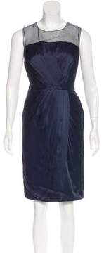 Andrew Gn Pleated Sheath Dress