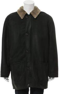 Calvin Klein Collection Suede Car Coat