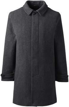 Lands' End Lands'end Men's Tall Herringbone Wool Topcoat