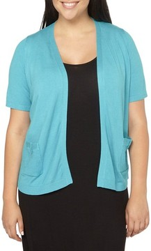 Evans Plus Size Women's Tab Pocket Cardigan