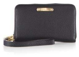 GiGi New York Pebbled Leather Phone Wristlet