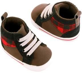Osh Kosh Baby Boy Plaid Sneaker Crib Shoes
