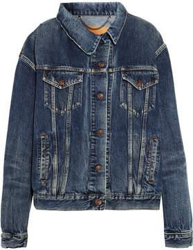 Balenciaga Asymmetric Denim Jacket - Mid denim