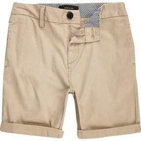 River Island Boys light brown chino shorts
