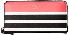 Kate Spade Hyde Lane Stripe Pop Lacey Wallet - PEACH SHERBET - STYLE