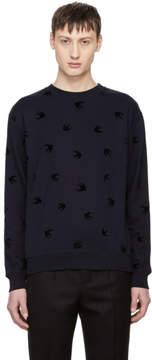 McQ Navy Swallow Sweatshirt