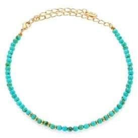 Ettika Still Surprise You Dyed Turquoise Beaded Choker Necklace