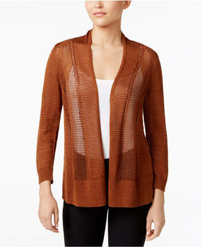 Alfani Sheer Mixed-Knit Cardigan, Created for Macy's