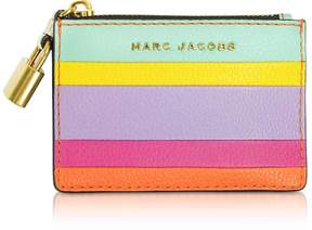 Marc Jacobs The Grind Colorblocked Leather Top Zip Card Holder