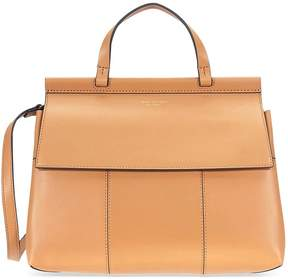 Tory Burch Block-T Leather Satchel- British Tan - ONE COLOR - STYLE
