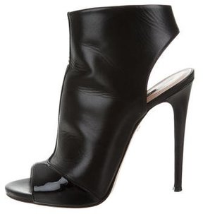 Ruthie Davis Leather Peep-Toe Booties