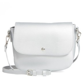 Bp. Minimal Faux Leather Crossbody Bag - Grey