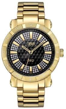 JBW Men's 562 12-Diamond Goldtone Stainless Steel Bracelet Watch
