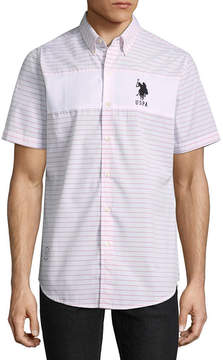 U.S. Polo Assn. USPA Short Sleeve Stripe Button-Front Shirt