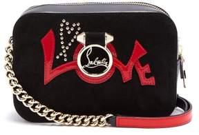Christian Louboutin Rubylou Mini Leather Cross Body Bag - Womens - Black Red