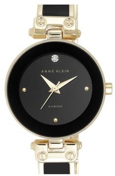 Anne Klein Women's Diamond Marker Bangle Watch, 28Mm