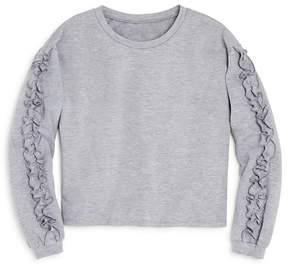 Aqua Girls' Ruffled Sweatshirt, Big Kid - 100% Exclusive