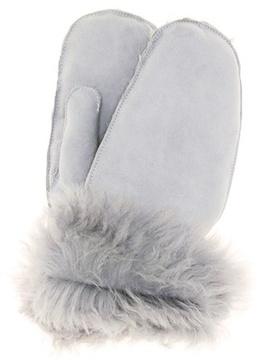Miu Miu Fur-lined suede mittens