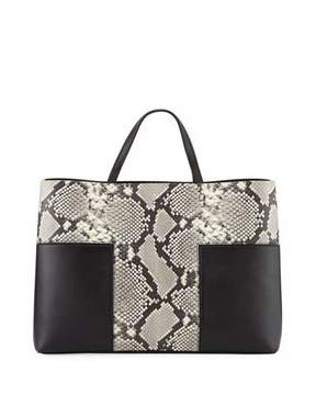 Tory Burch Block-T Embossed Triple Compartment Tote Bag, Snake Black - SNAKE BLACK - STYLE