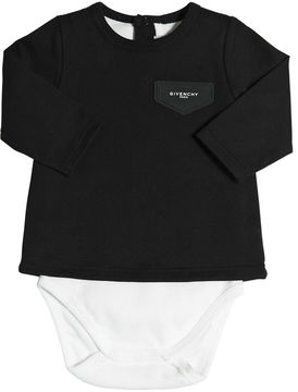 Givenchy Ribbed Cotton Jersey Bodysuit
