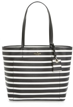 Kate Spade Hyde Lane - Small Riley Faux Leather Tote - Black - BLACK - STYLE