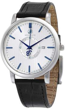 Co Brooklyn Watch Brooklyn Myrtle II Classic Swiss Quartz Slim Silver Dial Men's Watch
