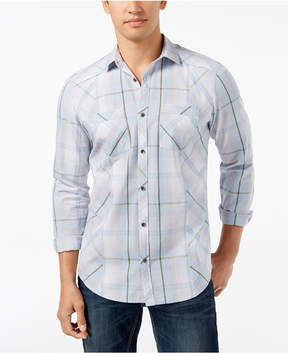 INC International Concepts I.n.c. Men's Plaid Shirt, Created for Macy's